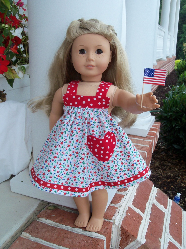 Americana Celebration Sundress / Clothes for My American Girl Doll