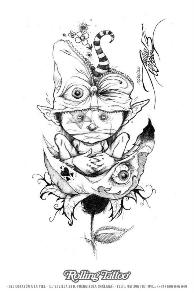 Ilustración de Javier Jiménez, tatuador de Rolling Tattoo Studio (Fuengirola)   Ilustration made by Javier Jiménez, tattoo artist at Rolling Tattoo.   Rolling Tattoo Studio 2013 Copyright. Todos los derechos reservados.   All Rights Reserved.