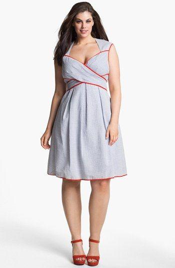 Jessica Simpson Cross Front Dress (Plus Size)  Plus size fashion