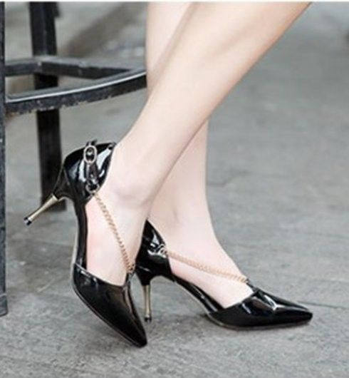 women real genuine leather stiletto pointed toe party high heel sandals brand sexy fashion heeled ladies shoes