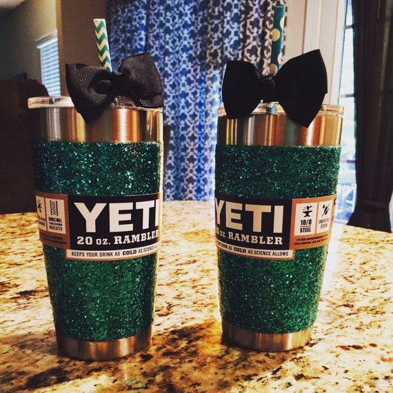 Glitter Yeti Rambler in Teal with Lid by GlitterYeti on Etsy