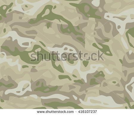Original vector realistic camouflage pattern background editable pattern large size.  Savannah Tree camouflage rocks desert dirt sand - stock vector