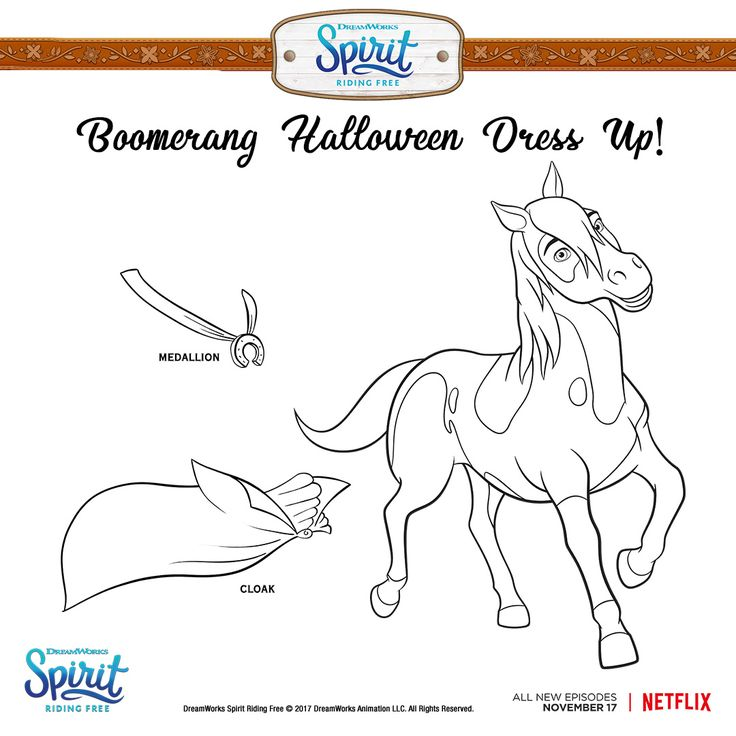 Boomerang can't be that spooky, right? Print and color ...
