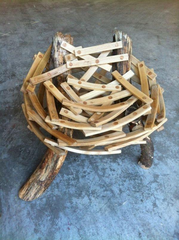 Durch ein Nest inspirierter Designer Sessel \u201c Eyrie\u201d von Floris