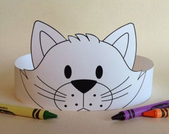 Monster Crown COLOR YOUR OWN Printable by PutACrownOnIt on Etsy