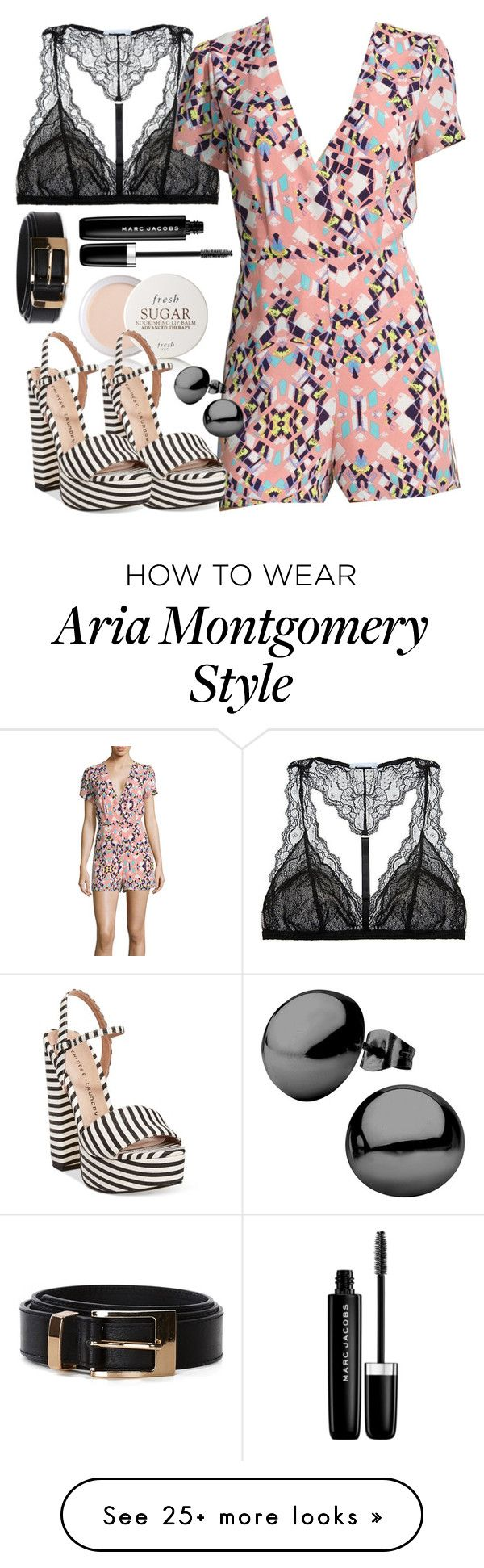 """Aria Montgomery inspired summer outfit"" by liarsstyle on Polyvore featuring Fresh, Eberjey, I Heart Ronson, Chinese Laundry and Marc Jacobs"