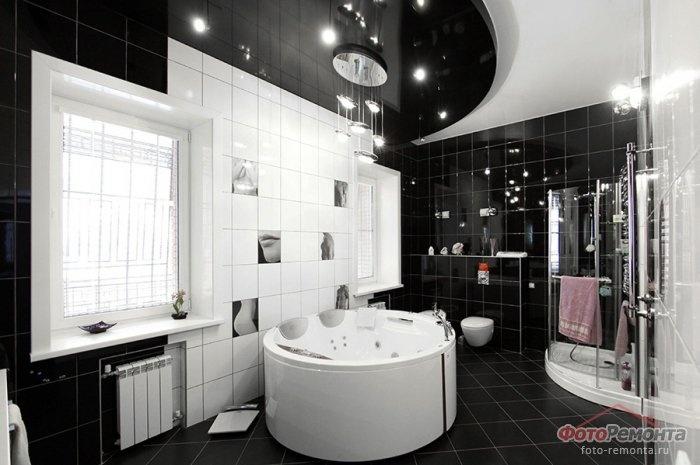 Интерьер дома в черно-белых тонах