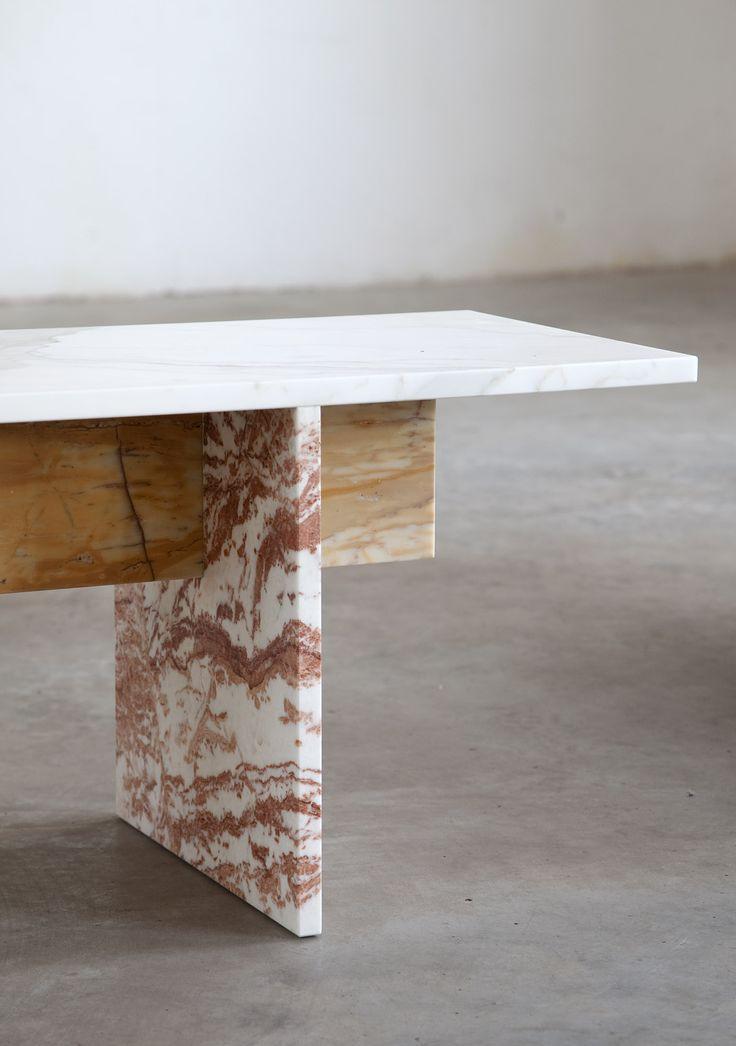 Muller Van Severen multi-color marble bench
