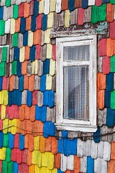 Chiloe Island house detail - Photographer - Walter Bibikow