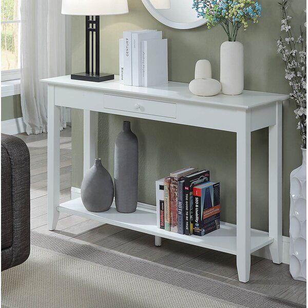 Inman 48 Console Table In 2020 White Console Table Console Table Living Room Furniture Sale