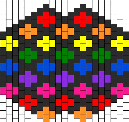 Rainbow Crossing Mask Bead Pattern EDC Costume Ideas Pinterest Fascinating Kandi Mask Patterns