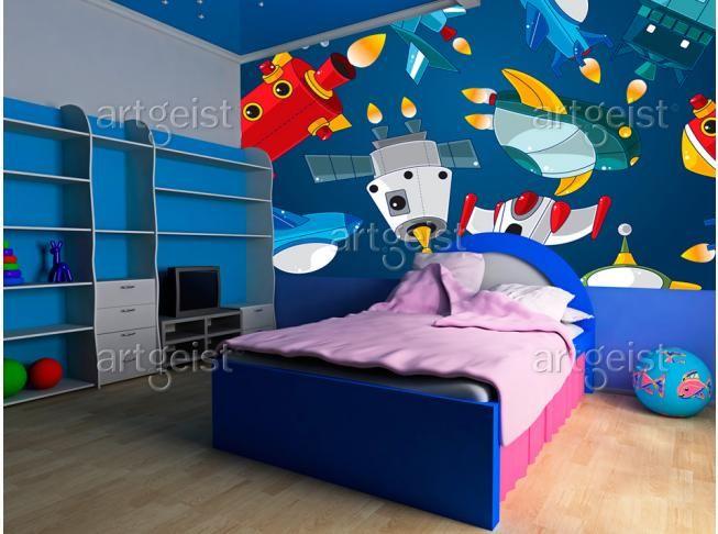 Papier peint Véhicules spatiaux #papier #peint #enfants #deco #murale
