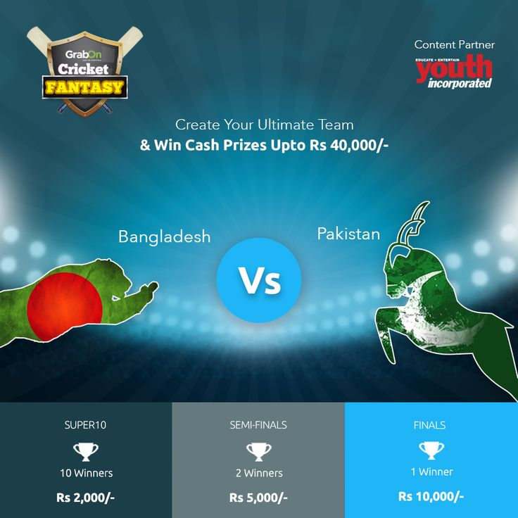 Be aggressive. Really, really aggressive and #GrabTheCup. Presenting the most fascinating game - Cricket Fantasy in association with Youth Incorporated as Content Partner. http://www.grabon.in/cricketfantasy/ #PAKvBAN