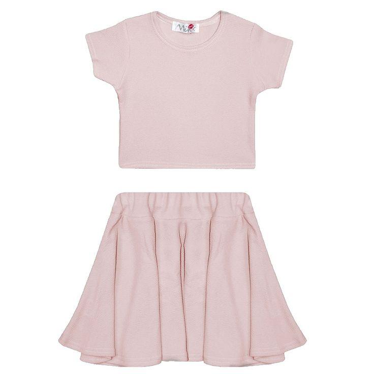 NEW GIRLS Kids Plain Crop Tops Skater Skirts Range Individual and Sets AGE : 7 8 9 10 11 12 13 YEARS: Amazon.co.uk: Clothing