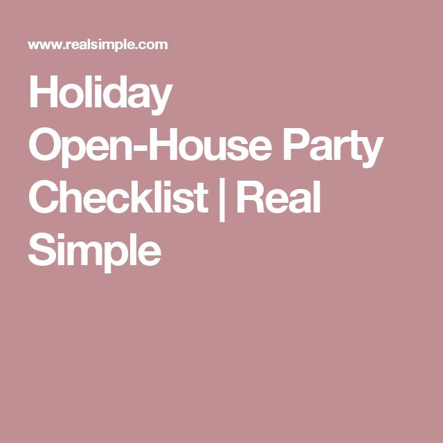 Holiday Open House Party Checklist