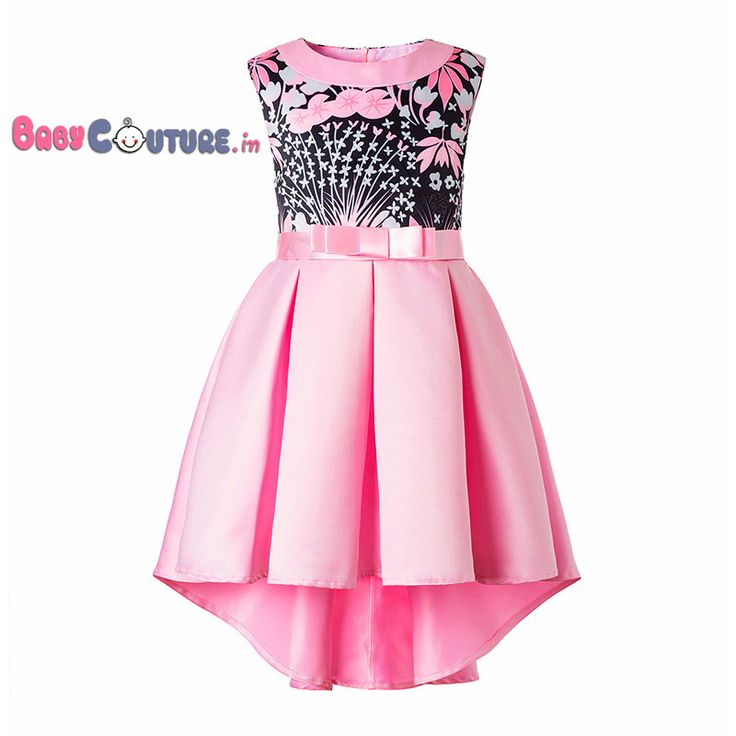 Pink Midnight Love High Low Kids Dress