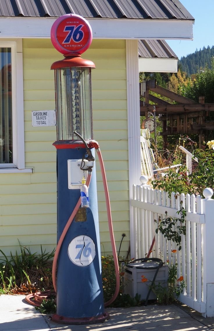 Quincy Man Cave : Union visible pump quincy california old gas