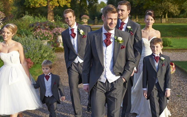Our charcoal mohair tailcoats, Burford. #groom #weddingsuits #greysuit #groomsmen