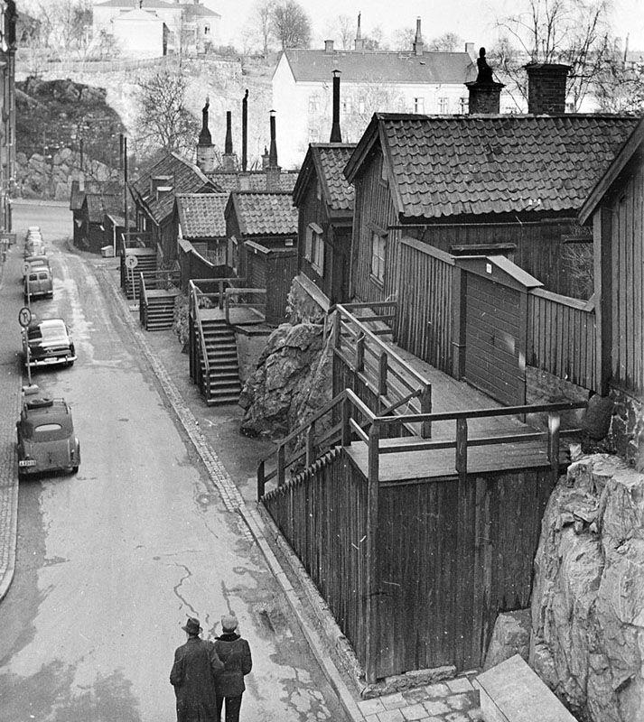 Sågargatan norrut från Åsögatan. Kv. Tjärhovet Större - Stockholmskällan