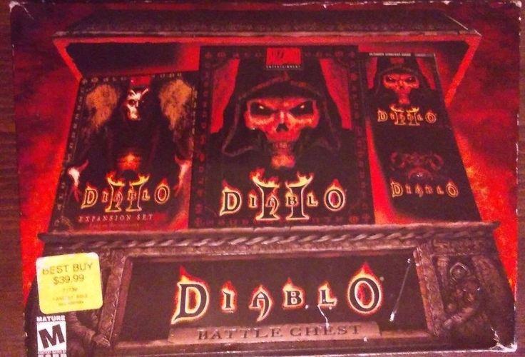 Diablo II Battle chest Discs unscratched CIB Blizzard PC game with expansion