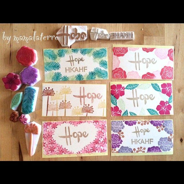"Let's kids make their own sticker at ""Hope Shine Though Tea Party "" this Sunday #eraserstamp #sticker #hope #hkahf #rubberstamp #hanco #hanko #hkshop #handmade #handicraft #hkhandmade #h#bymamalaterre"