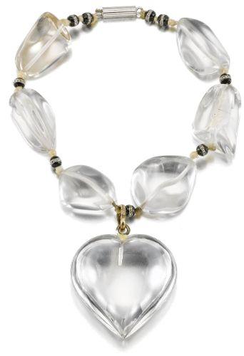 Rock crystal, onyx and diamond bracelet, assembled by Suzanne Belperron | lot | Sotheby's