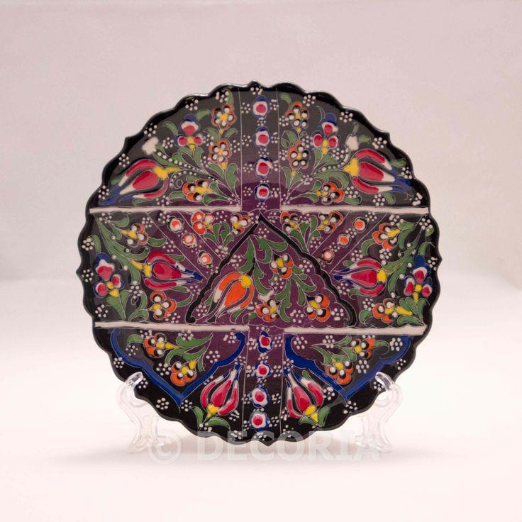 Small Plate - Black & Purple - DECORIA HOME & GIFT