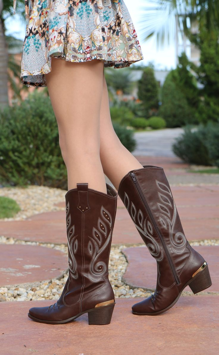 country boots - brown shoes - winter - bota - Inverno 2015 - Ref. 15-6107