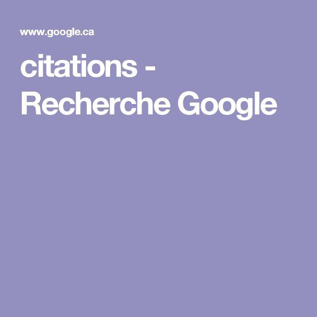 citations - Recherche Google
