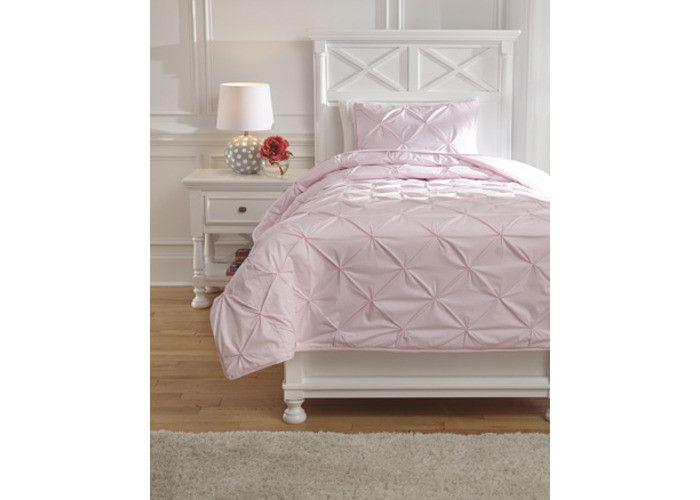 Q768001T Medera Twin Comforter Set - Rose - Free Shipping!
