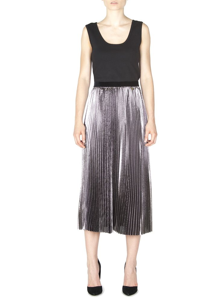 Naughty Dog FW1617 plissé metallic skirt, now available 50% off!