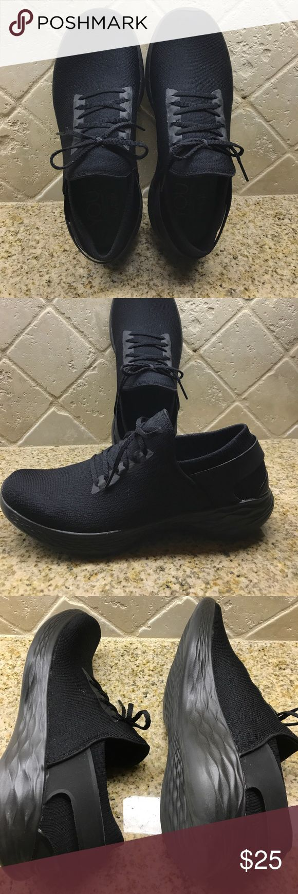 YOU walk by Skechers black size 8.5 YOU walk by Skechers black size 8.5. Excellent condition! Worn once. All one piece type of slip on. Laces are for looks. Elastic sock like feel at the back Skechers Shoes Sneakers