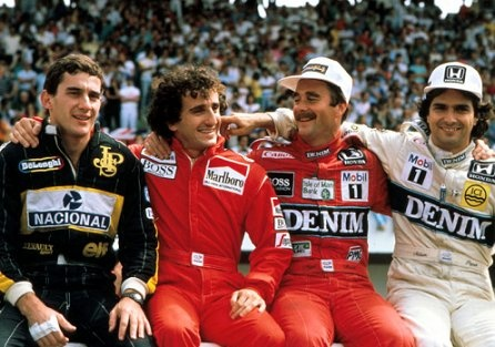 Senna Prost Mansell Piquet