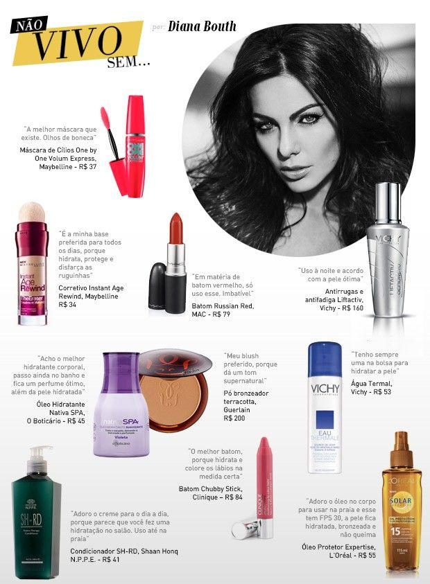 Diana Bouth lista seus dez produtos de beleza preferidos