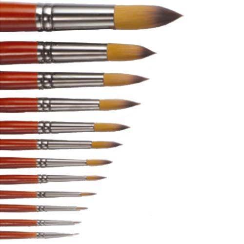 Penselen: gereedschap waarmee je precies kunt schilderen. De haren zijn zacht en de steel is gelakt. Het zilverkleurige deel heet: de bus, daarin worden de haren samengeklemt. Maak je penselen altijd goed schoon en droog, ze zijn kostbaar. In je etui vind je een nummer 4 en een nummer 8 penseel.