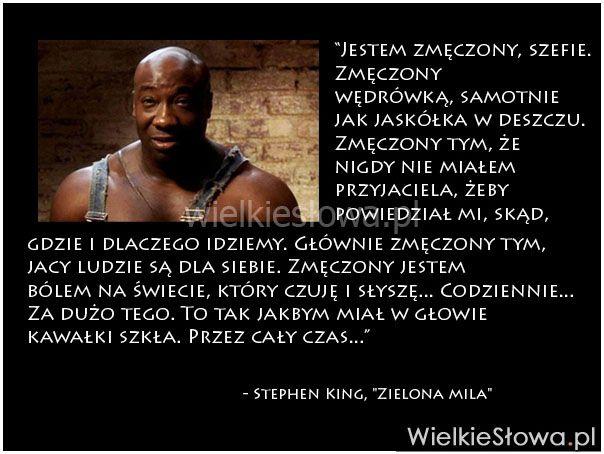 Jestem zmęczony, szefie. Zmęczony wędrówką... #King-Stephen,  #Z-filmów