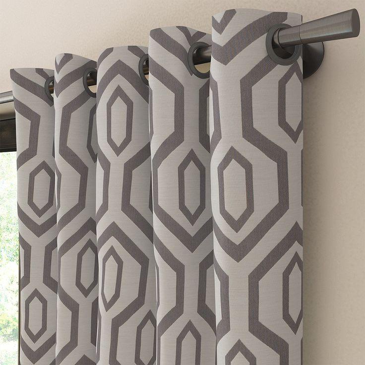 les 25 meilleures id es de la cat gorie rideaux g om triques sur pinterest rideaux boh me. Black Bedroom Furniture Sets. Home Design Ideas