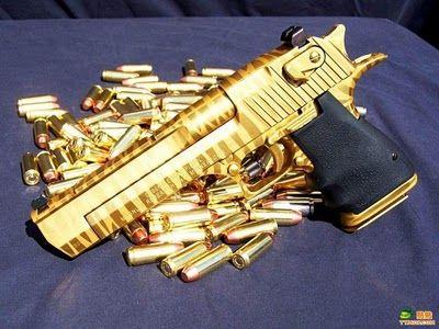 Gold Plated Desert Eagle Mark II 50 Caliber....