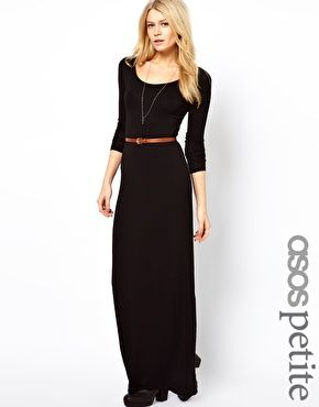 Black and white maxi dress with gold belt