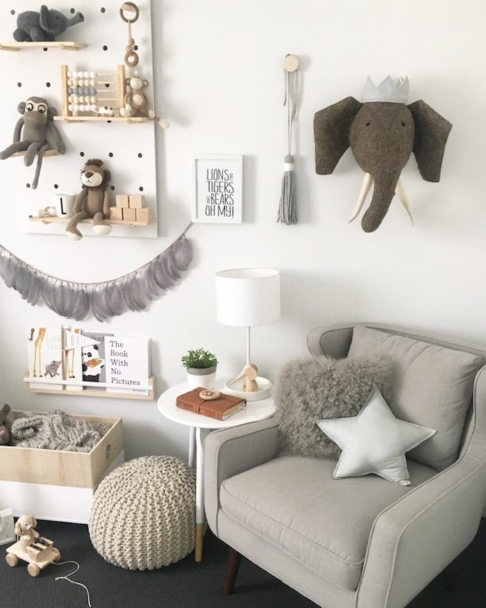 Neutral Scandinavian Nursery with a Touch of Boho  This chair
