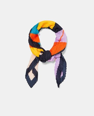 PLEATED SCARF WITH STRIPES-View All-ACCESSORIES-WOMAN | ZARA United States