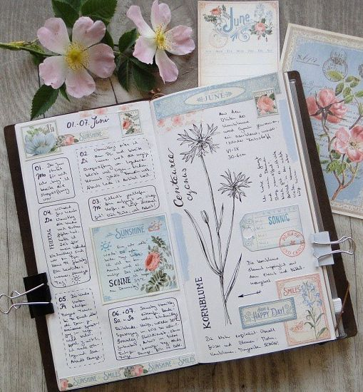 Martina Lenhardt art journal/plant journal
