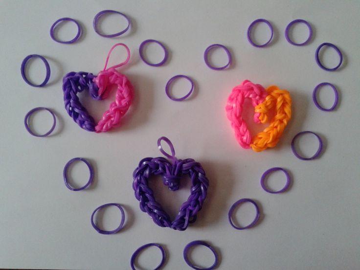 ♥ Tutorial: corazón hecho de gomitas (sin telar) ♥