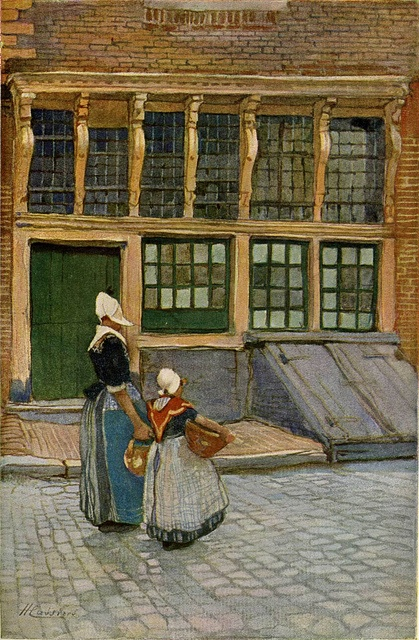 Henri Cassiers Returning from the market by sloweley, via Flickr #NoordHolland #Volendam