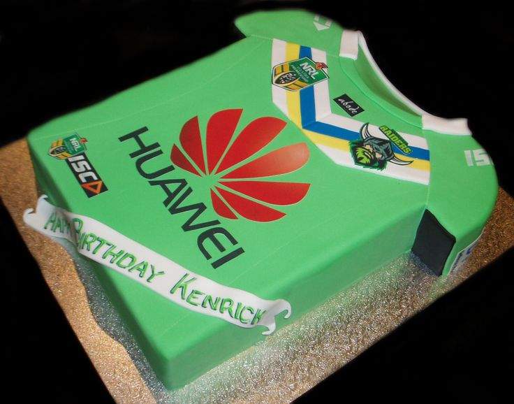 Raiders Jersey Birthday Cake - by Nada's Cakes Canberra