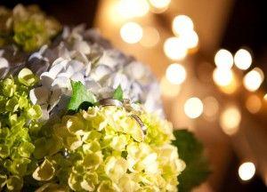 Bride's bouquet at reception