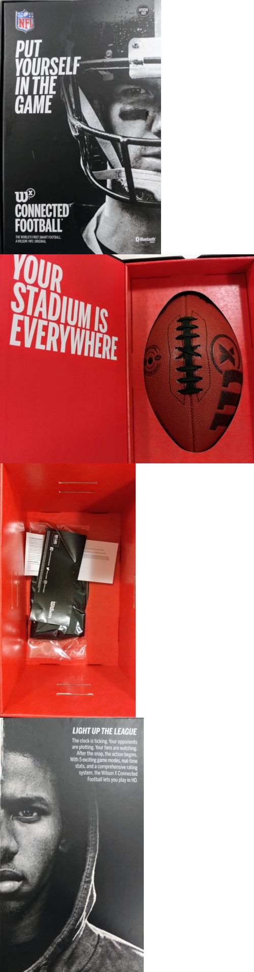 Footballs 21220: Wilson X Nfl Official Size Football - Nfl -> BUY IT NOW ONLY: $65 on eBay!