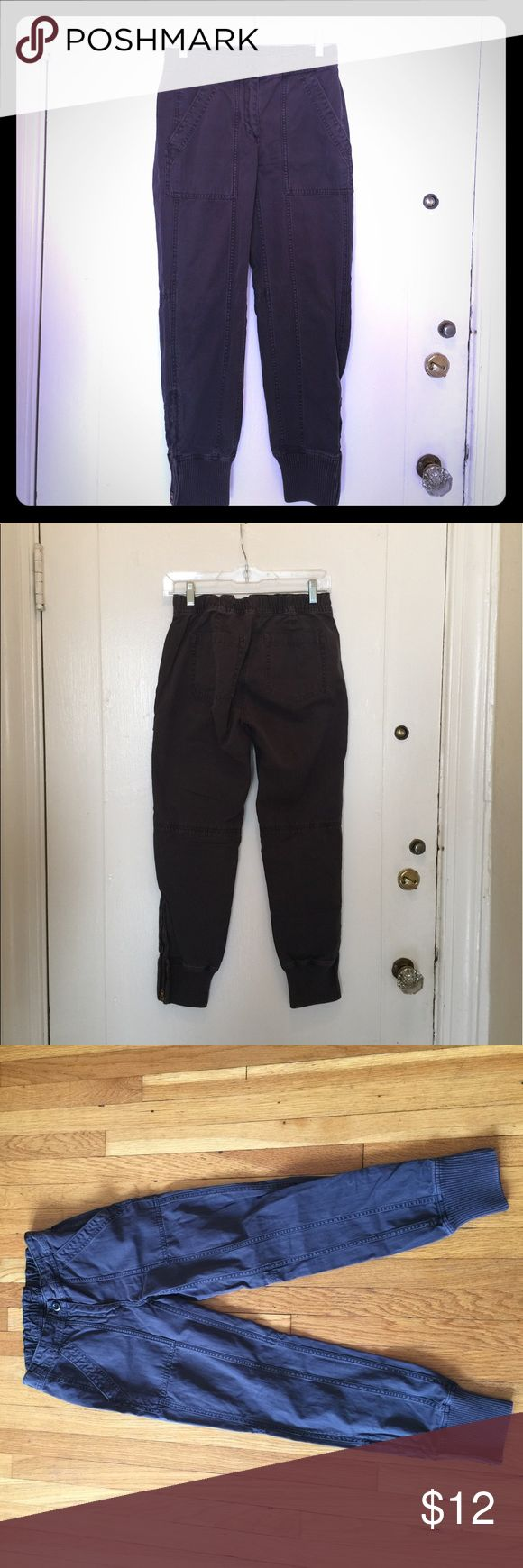 J. Crew Black Cropped Slim fit Cargo Pant Cropped faded black pant ( not a deep black color) , cotton, machine wash, zipper hem, elastic waist, cropped ankle fit. cute with a tee! J. Crew Pants Ankle & Cropped