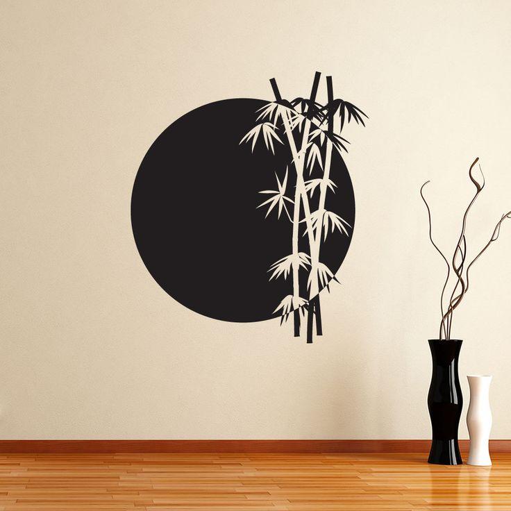 chinese Wall Decals | BAMBOO-SUN-CHINESE-JAPANESE-WALL-ART-STICKER-WALL-MURAL-WALL-DECAL-DIY ...