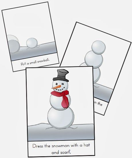 As children learn to sequence, they are also learning about patterns, relationships, and order, and laying the foundation for work in mathematics and language. Practicing sequencing happens with simple daily conversations, but it can also be more formally introduced in activities such as story sequencing. Don't forget to download the fun and festive Snowman Sequencing Printable!